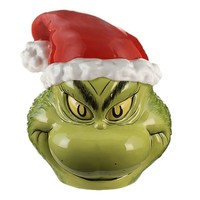 Vandor Dr. Seuss The Grinch Sculpted Ceramic Cookie Jar New with Box