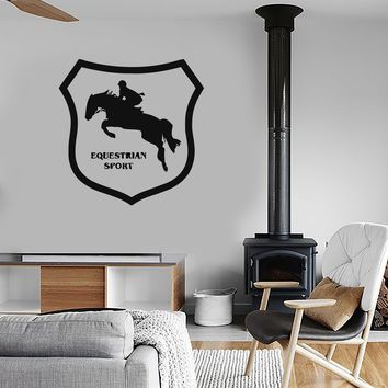 Vinyl Decal Wall Stickers Horse Rider Racing Equestrian Sport Decor for Stables Unique Gift (ig231)
