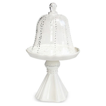 Gabrielle Pedestal Cupcake Plate w/ Dome, Cake Stands & Tiered Trays