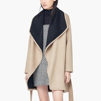 WATERFALL WOOL-BLEND COAT