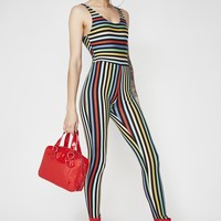 Stripe Unitard