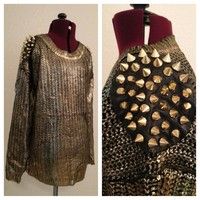 Golden Spiked Sweater