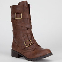 Soda Diona Womens Boots Brown  In Sizes
