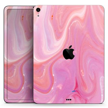 "Marbleized Pink Paradise V2 - Full Body Skin Decal for the Apple iPad Pro 12.9"", 11"", 10.5"", 9.7"", Air or Mini (All Models Available)"