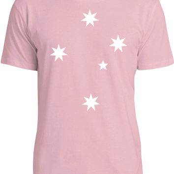 Southern Cross (White) Mens Fine Jersey T-Shirt