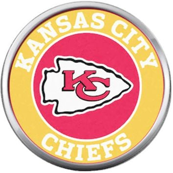 Kansas City Chiefs NFL Circle Football Lovers Team Spirit 18MM - 20MM Snap Jewelry Charm