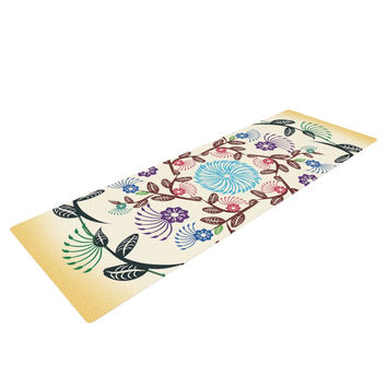 "Famenxt ""Nature Mandala"" Yellow Multicolor Yoga Mat"