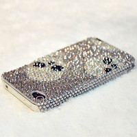 Fashion Skull Rhinestone Cover Case For Iphone 5