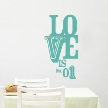 Love is No 1 vinyl wall decal graphic by TastySuite on Etsy