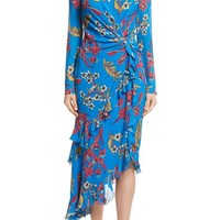 Etro Jungle Floral Print Asymmetrical Ruffle Dress | Nordstrom