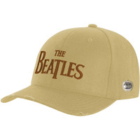 Beatles Men's  Drop T Logo Baseball Cap Beige