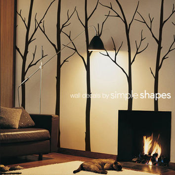 Wall Decal Winter Trees Art Wall Sticker