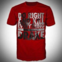 Drake - Mens Do Right T-Shirt In Red