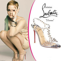 Christian Louboutin J-Lissimo Spikes 100mm Sandals