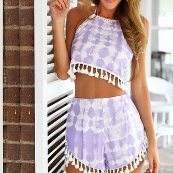 Tie Dye Two Piece Set - Purple Haze