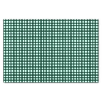 Gingham-Jade Green-Tissue Wrapping Paper