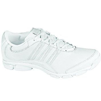 adidas Women's Cheer Sport Cheeleading Shoe,Running White,4.5 M