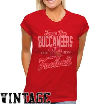 Tampa Bay Buccaneers Women's Vintage Team Spirit T-Shirt - Red