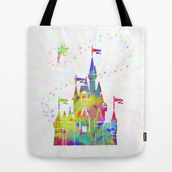 Castle of Magic Kingdom  Tote Bag by Miss L In Art