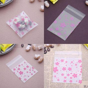 ONETOW 100pcs Lace Candy Bags Self Adhesive Seal Plastic Cookies Candy Biscuit Packaging Gift Bags Christmas Wedding Candy Gift Bags