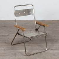 Davey Folding Chair - Nickel
