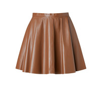 RED Valentino - Leather Flared Skirt