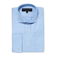Medium Blue Cotton Twill Dress Shirt - Dress Shirts - Menswear - Shop online