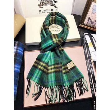 Burberry Autumn And Winter High Quality New Fashion Plaid Tassel Women Warm Scarf