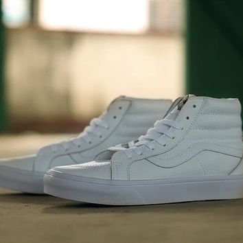 Vans White High Top Sneaker Flats Shoes Canvas Sport Shoes