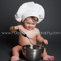 Custom Order Pastry Chef Hat - Photography Prop - Any Size or Color | desertdiamond - Crochet on ArtFire