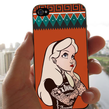 Alice Rock Punk Classic Aztec Monogram Phone Case for iPhone 4/4S iPhone 5/5S/5C Samsung Galaxy S3 Samsung Galaxy S4