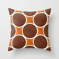 Chocolate Orange Throw Pillow by Inspired Images