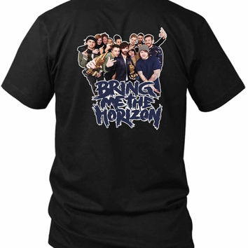Bring Me To The Horizon Bmth (8) 2 Sided Black Mens T Shirt
