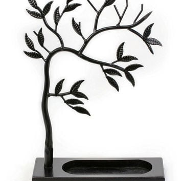 Zoohu Sculpted Jewelry Tree - Metal Necklace Holder / Jewelry Tree / Earring ...