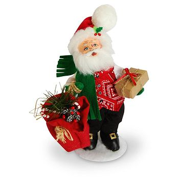 Annalee Dolls 2016 Christmas 9in Rustic Yuletide Santa Plush New with Tags
