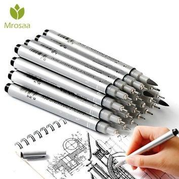 10 Tip Sizes Micron Neelde Drawing Pen Waterproof Pigment Fine Line Sketch Markers Pen For Writing Hand-Paint anime Art Supplies