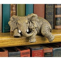 Design Toscano Ernie the Elephant Shelf Sitter Sculpture