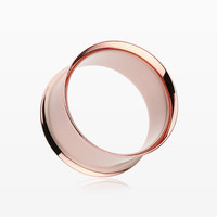 A Pair of Real Rose Gold Plated Ear Gauge Tunnel Plug