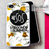 5sos flower for iPhone 4, iPhone 4s, iPhone 5 /5s/5c, Samsung Galaxy S3, Samsung Galaxy S4 Case
