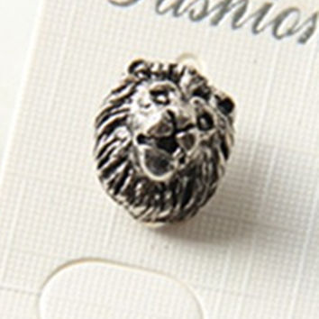 New design handmade lion head stud earrings LION earrings