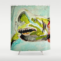 Great White Hope Shower Curtain by Bruce Stanfield