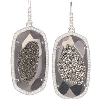 Ellen Drop Earrings in Platinum Drusy - Kendra Scott Jewelry