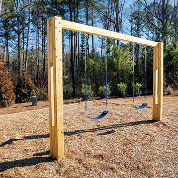 Planet Playgrounds Free Standing 2 Position Wooden Swing Bay