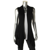 Style & Co. Womens Petites Stretch Open Front Casual Vest