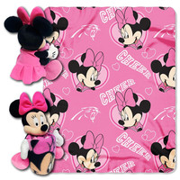 Carolina Panthers NFL Minnie Mouse with Throw Combo