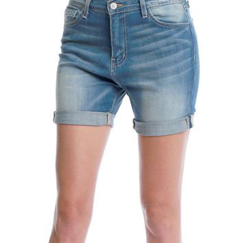 Stay Real Denim Cuffed Shorts