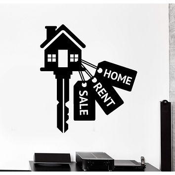 Vinyl Wall Decal Real Estate Keys House Home Rent Stickers Murals Unique Gift (ig4658)