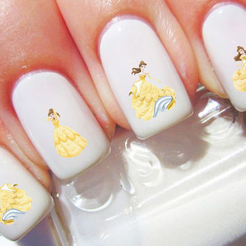 Beauty and the Beast Belle Disney Nail Decals