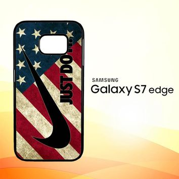 Nike American Flag L1969 Samsung Galaxy S7 Edge Custom Case