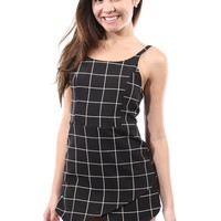 Clueless Replay Plaid Romper
